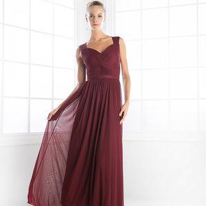 Sweetheart Neckline Long A-Line Dress CD3858